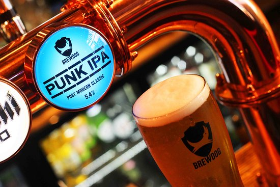 Brewdog Punk IPA is one of our permanent draught beers