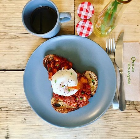 Homemade beans, perfect poached egg and fabulous filter coffee.