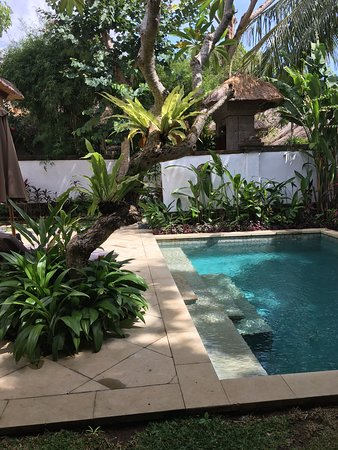 This photo is at a resort in Jimbaran. Private villa with pool. Just beautiful.