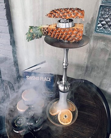 we took this Shisha on Pineapple ,LOOK AT this OMG,