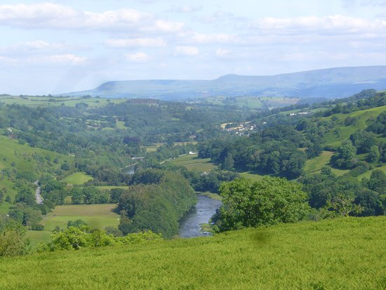 Wye Valley near Erwood, Wales