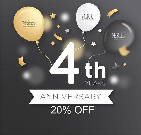 Halab KL: Celebrate with us our 4th anniversary and enjoy 20% off on the 1st of July 2019 , The best is yet to come. 😍 😘  - 和我們一起慶祝我們的4週年紀念日,並在2019年7月1日享受八折優惠,最好的還未到來。 😍😘 - ندعوكم للحضور والاحتفال معنا بمناسبة مرور 4 سنوات على افتتاح مطعم حلب كوالالمبور والاستمتاع بتخفيض 20 بالمائة في اول يوم من شهر يوليو 2019 , الافضل قادم باذن الله 😍😘  -  https://buff.ly/2S8rzWT - #Food #Halab #Malaysia #Shawarma #KL #penang #Halal #عربي #مطعم #discount #anniversary  