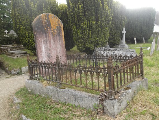 Victorian Graves In St Michaels Church at Chagford