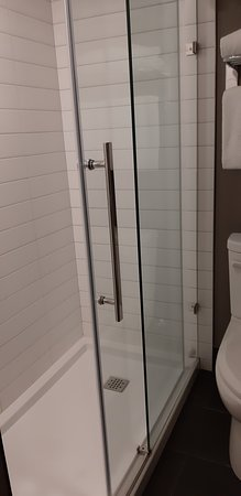 very clean shower stall.