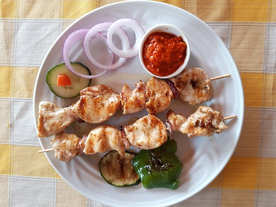 Maritimo Restaurant: Chicken fillet on the stick