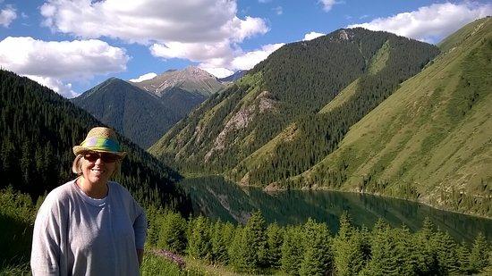 Hired a private tour guide to go off road around Almaty. Brilliant scenery.