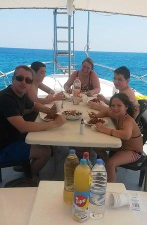 enjoy family lunch