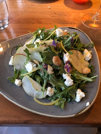 The Pear and Mission Fig salad was delicious