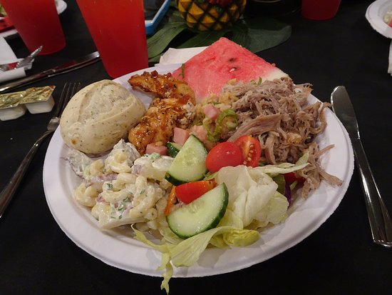 Polynesian Fire Luau and Dinner Show Ticket in Myrtle Beach: My plate