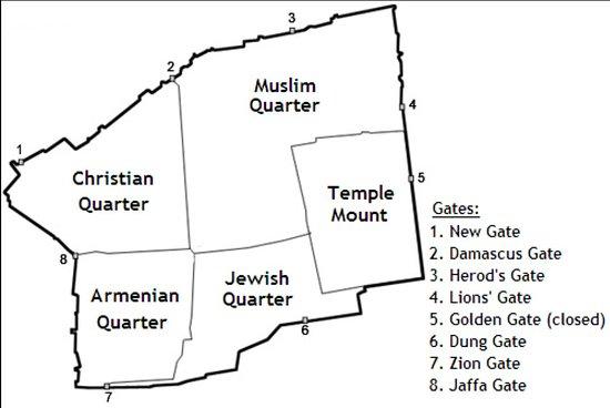 Jerusalem District, Izrael: I quartieri di gerusalemme