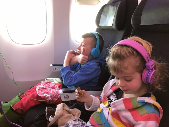 Two Kids Under 4 Enjoying The On Board Kids Entertainment Picture Of Air New Zealand Tripadvisor