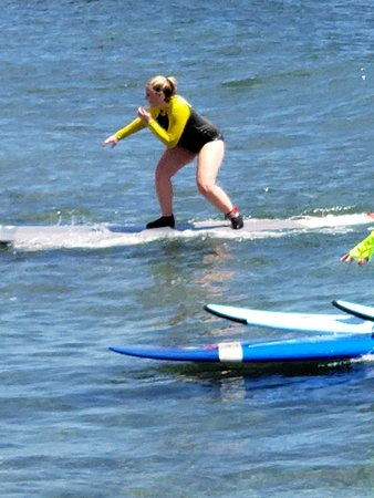 Group Surf Lesson in Lahaina: Nothing like the first time you get up!