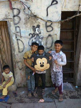 Mickey in slum