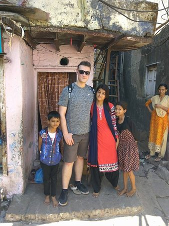 Girls wanted to take a pic on a slum tour.