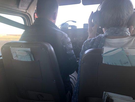Canyonlands National Park Air Tour: Inside the plane