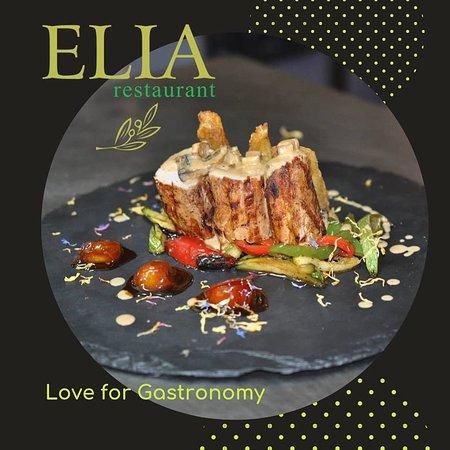 Elia Restaurant: Pork fillet with mushrooms sauce, truffle and fresh vegetables
