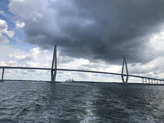 Charleston Harbor History Day-Time or Sunset Boat Cruise: Ravenel Bridge from the tour