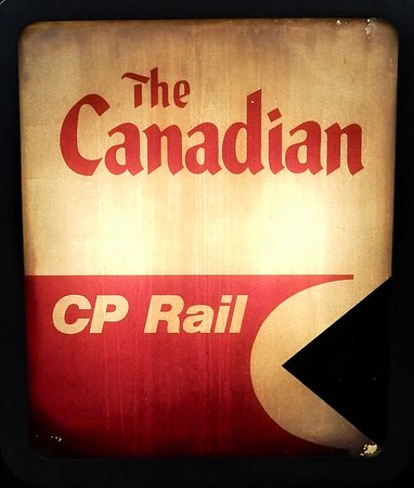 One of the signs inside Toronto Railway museum.