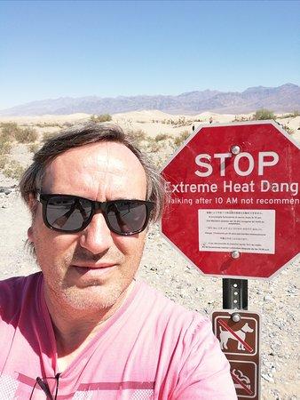 Mesquite sand dunes. Very Hot