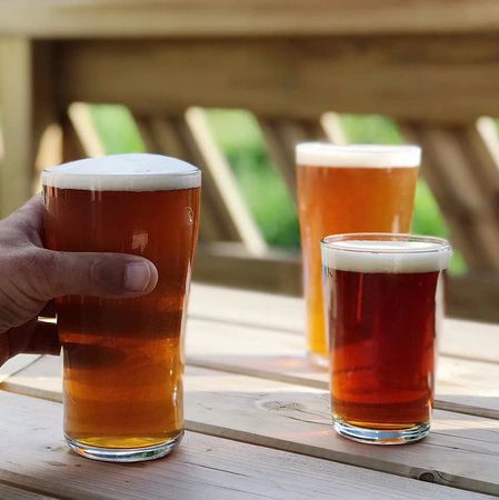 Le Solerey: Great beer brewed on site. Enjoy a thirst quenching beer outside on one of our two terraces.
