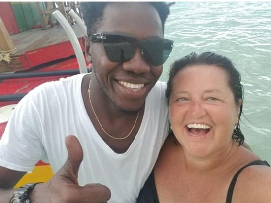 Kevin and I enjoying our day!  We jumped off and swam and had a great chat!  This was a really great day!