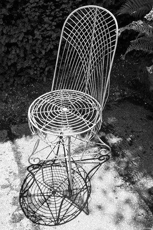 Decorative chair at Plas Cadnant