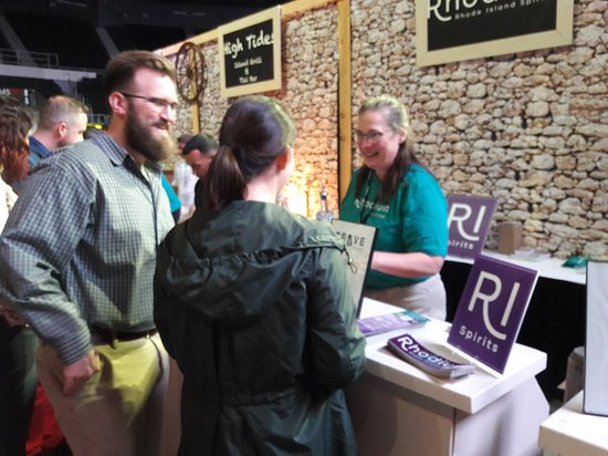 Rhode Island Spirits: Serving samples at the 2019 Crave RI event in Providence.