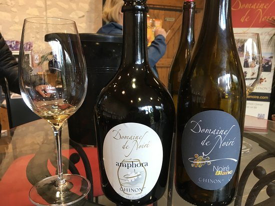Domaine de Noiré: Two dry wines made from Chenin Blanc, one aged in amphora, the other in barrel.