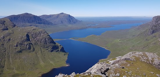 Gairloch, UK: The Dubh Loch and Fionn Loch, looking back towards Poolewe