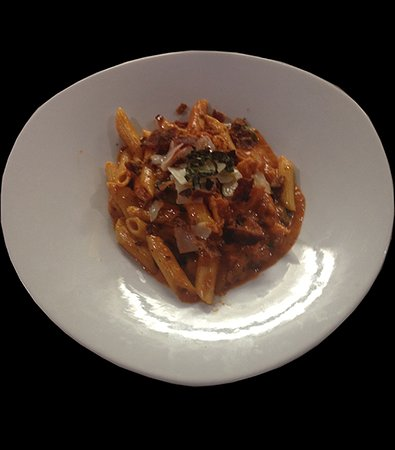 Pasta Bolognese, one of several on the menu.