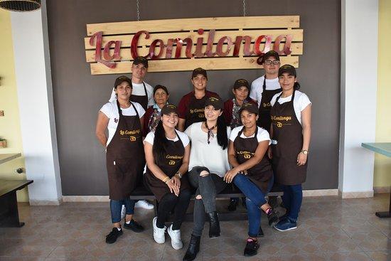 Sutamarchan, Colombia: El equipo de trabajo de La Comilonga... dispuestos siempre a ofrecer el mejor servicio¡¡