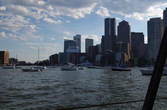 Sunset Sailing Cruise on a Tall Ship in Boston Harbor: Boston from the harbor