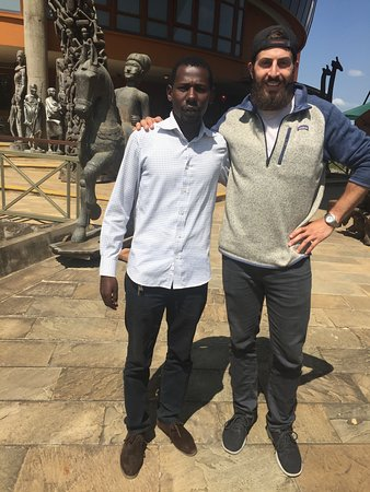 Lendimi Trek and Safaris: Nelson and I at the Arusha Cultural Heritage Centre