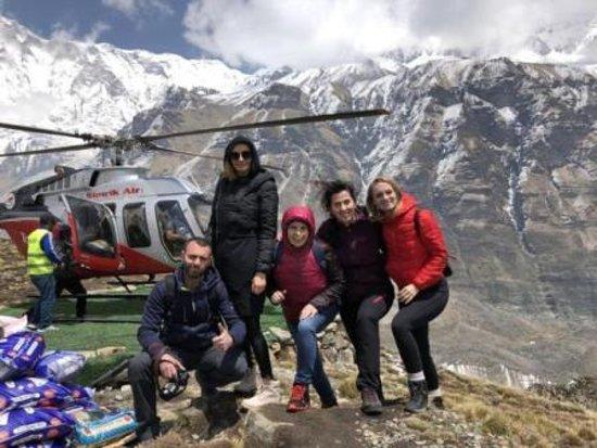 Pokhara, Nepal: trip to annapurna Bace Camp 1 Hour by Heli