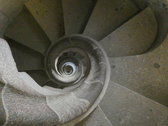 Entrada a la Basílica de la Sagrada Familia con acceso a las torres: アンモナイトのような階段