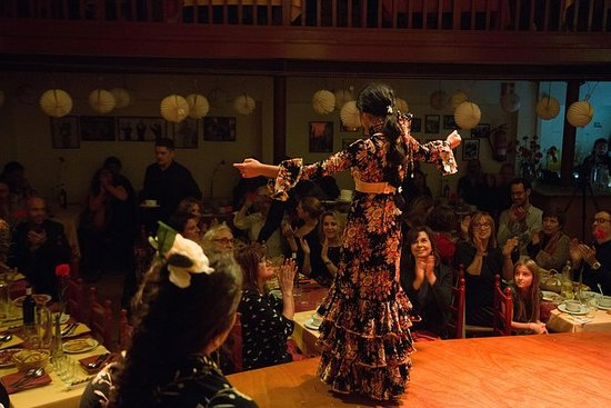 Spectacle de flamenco en soirée au...