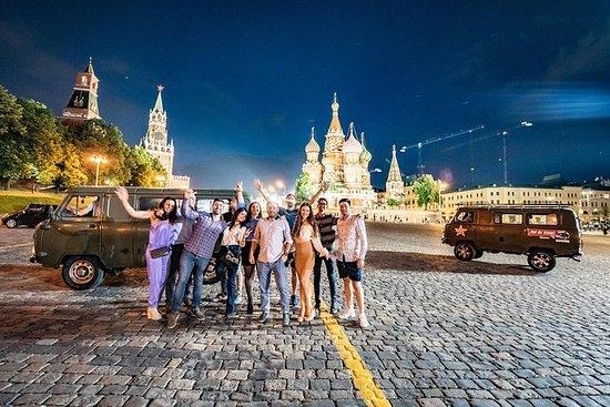 Moskou 's nachts, aan boord van een ...