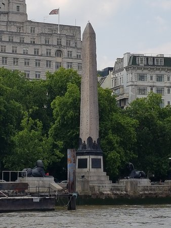 Cleopatra's Needle from the Thames