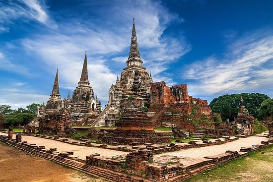 Ancient Temples of Ayutthaya, River...