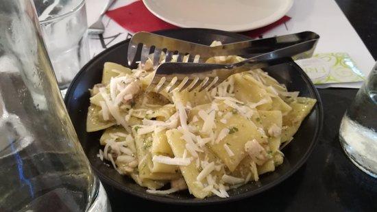 Malaspina Bistrot: Mezzi paccheri alla Mediterannea con Pesce Spada e Scaglie di Pecorino Mediterannean half paccheri with Swordfish and Pecorino flakes