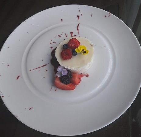 Pannacotte desert - exquisite design and scrumptious flavours, freshly prepared to order