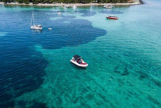 蓝色泻湖和特罗吉尔从斯普利特乘快艇游览