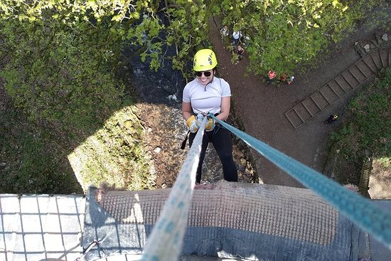 ABSEIL EXPERIENCE off Millers Dale Bridge THE BEST in Derbyshire...