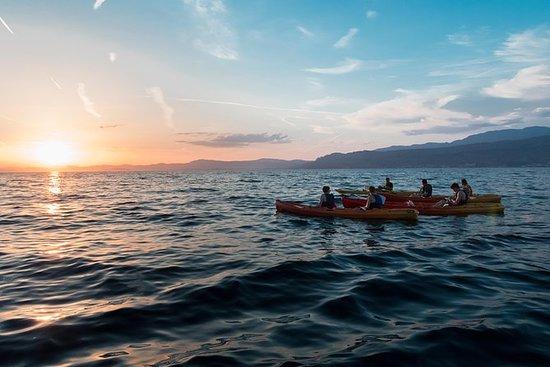 Sonnenuntergang Kayaking