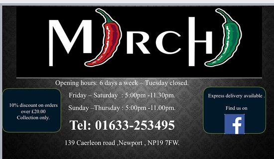 Hello everyone,  We are offering 10% off place an order though our website (delivery or collection) and pay by card.  Www.mirchinewport.co.uk   Also   get 10% off order over £20( collection only)  £5.00 off orders over £30 (collection only)  Call us on 01633253495 Thanks