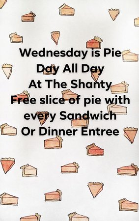 Wednesday is Pie day thru the summer