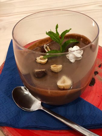Chocolate mousse better than Nutella by La Sosteria Italian Restaurant & Pizzeria in Gouvia Corfu Streetview
