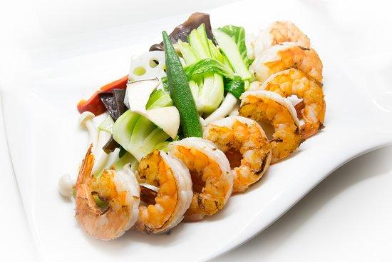 MATUYA Japanisches Restaurant: Garnelen mit Gemüse