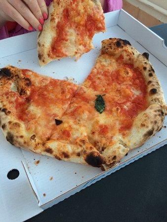 Take away pizzas