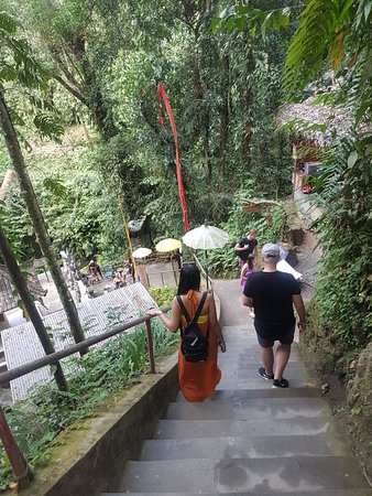 The way dowm to Kanto Lampo waterfall , Gianyar , Bali.